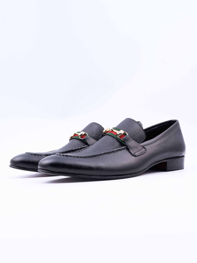 mens black leather casual shoes