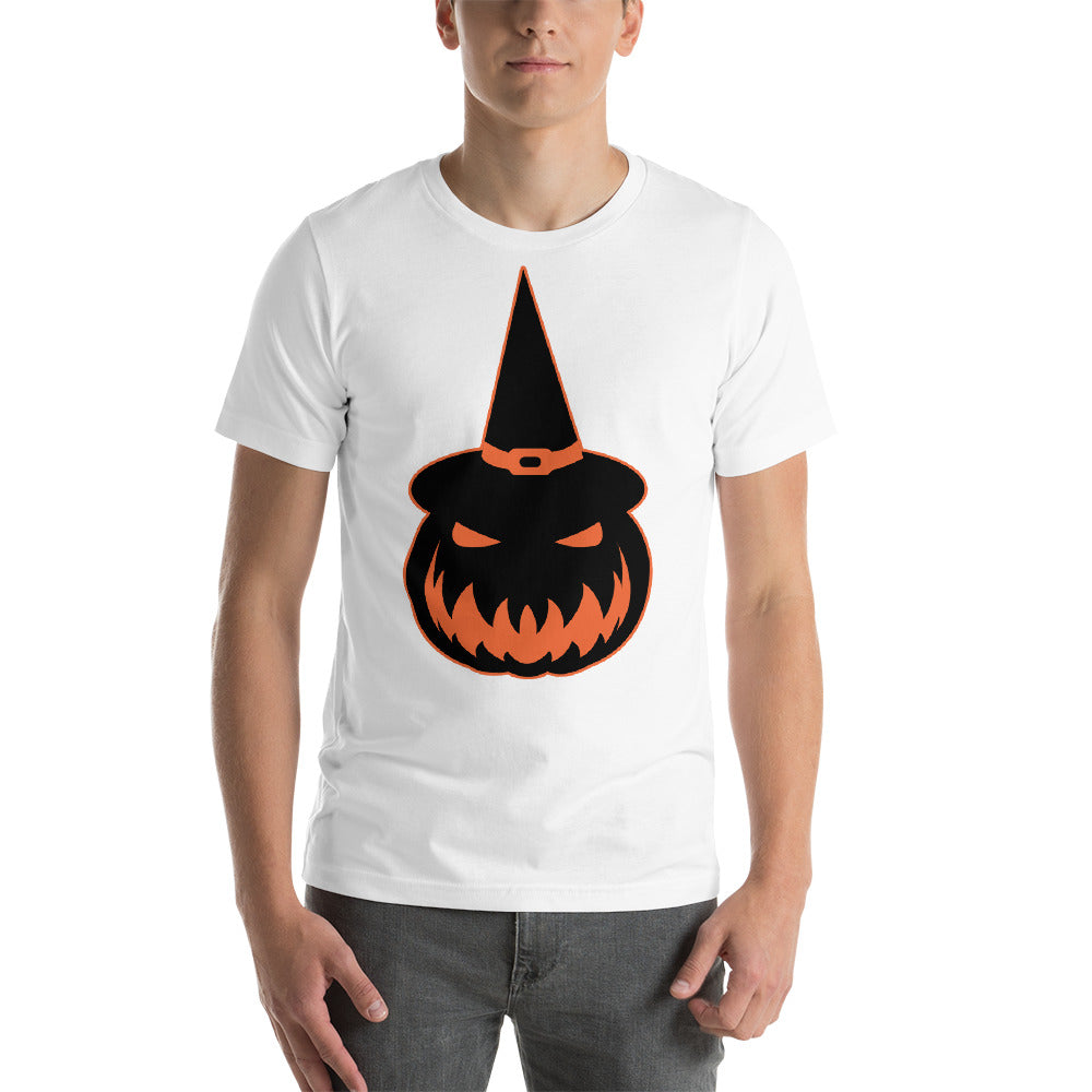 Scary Looking Pumpkin Image Design Wearing A Witch Hat Cool Creative Fabulous Designs