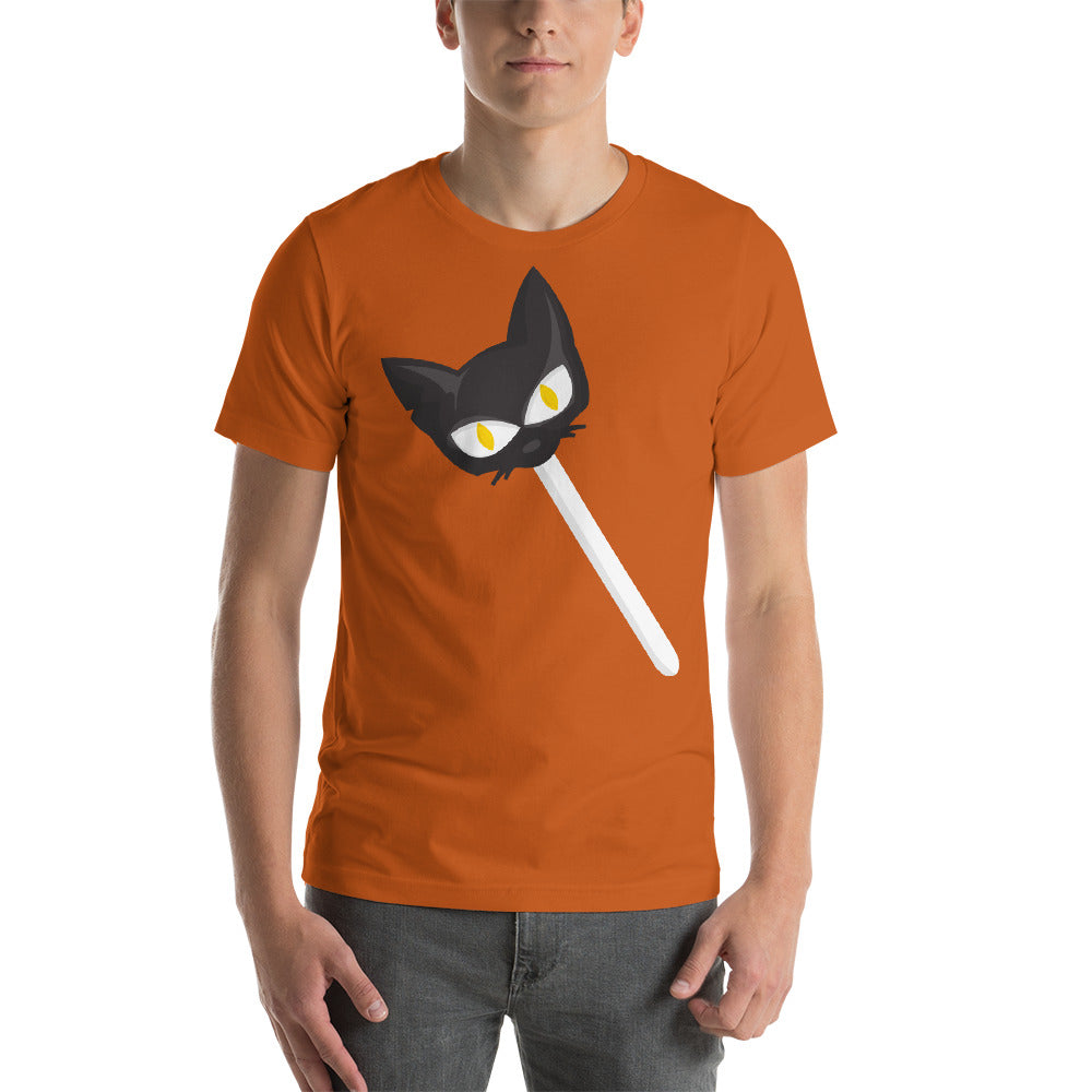 Scary Creepy Cat Look Design On Lollipop Nice Idea Cool Creative Fabulous Designs