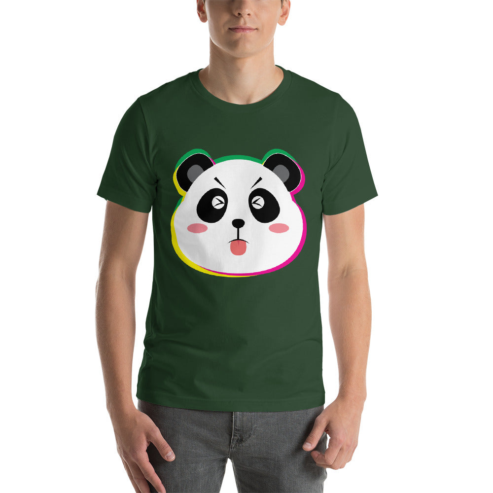 Panda With Colorful Face Happy Times Awesome Design Cool Art Creative Fabulous Designs