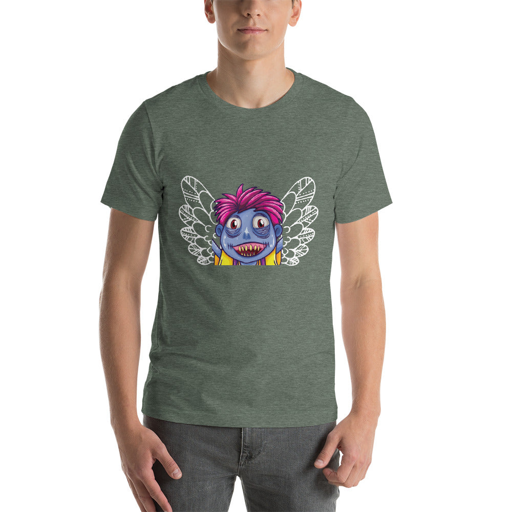Funny Face Colorful Zombie Design With Wings Nice Theme Cool Art Creative Fabulous Designs