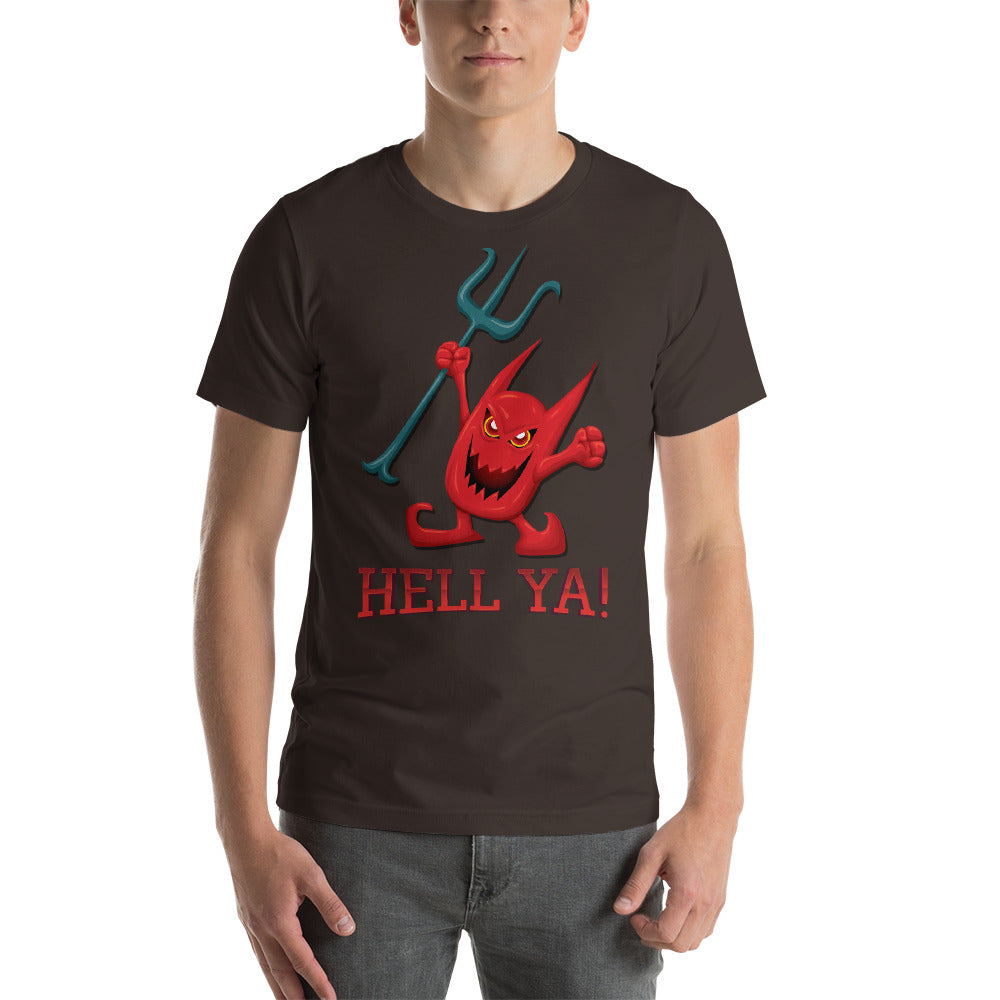 Hell Ya Scary Devil Design Perfect Theme Bright Colors Cool Creative Fabulous Designs