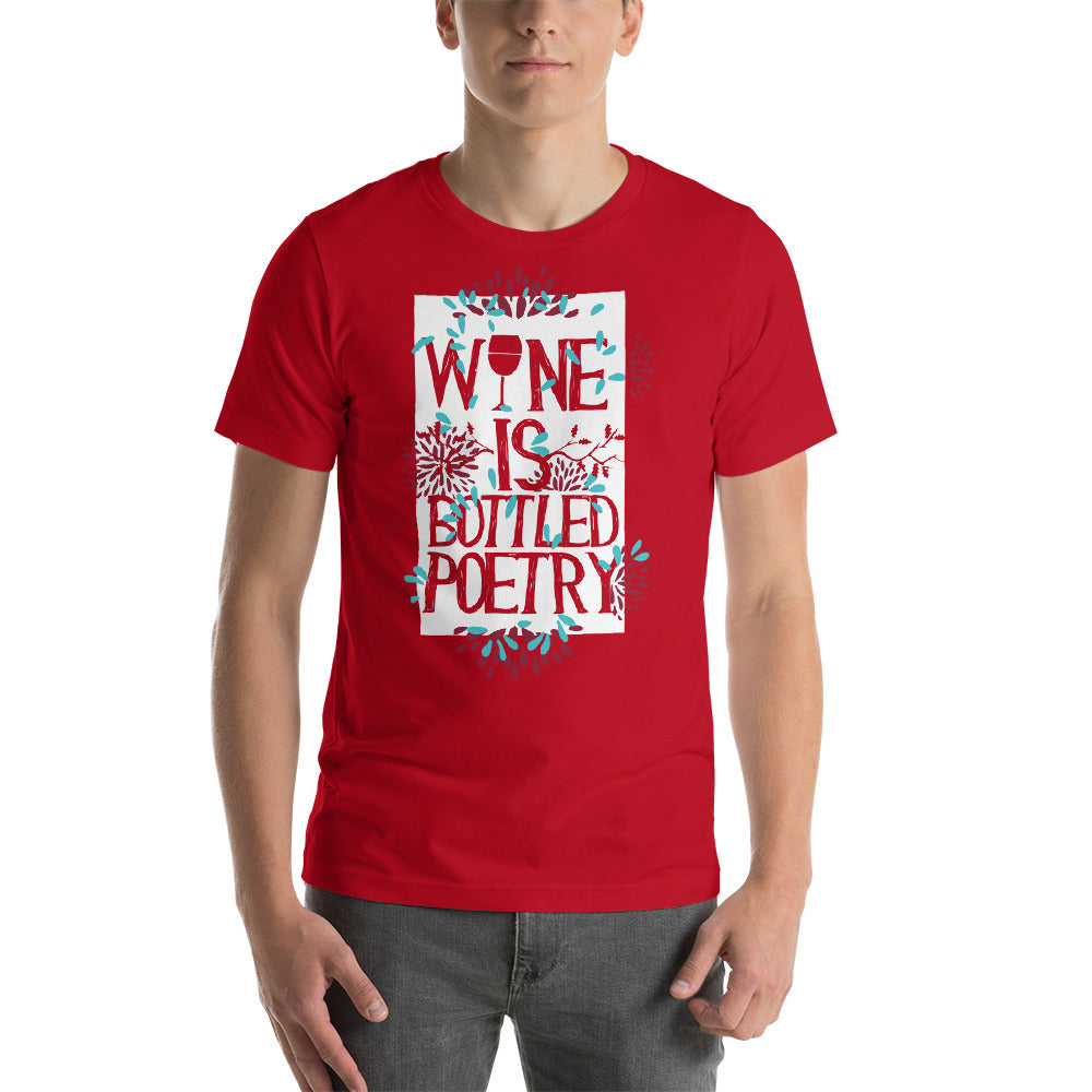 Wine is Bottled Poetry Beautiful Design Nice Theme Cool Art Creative Fabulous Designs