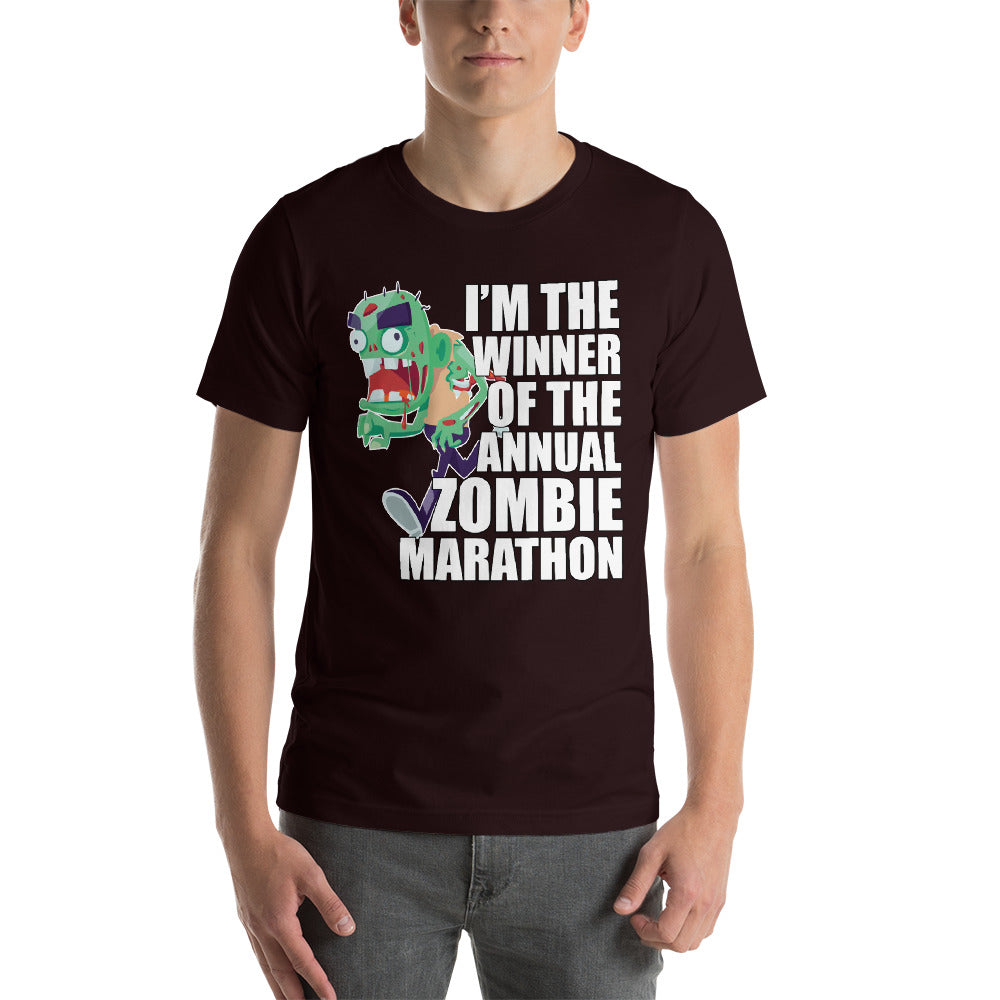 I'm The Winner Of The Annual Zombie Marathon Colorful Zombie Design Cool Art Creative Fabulous Designs
