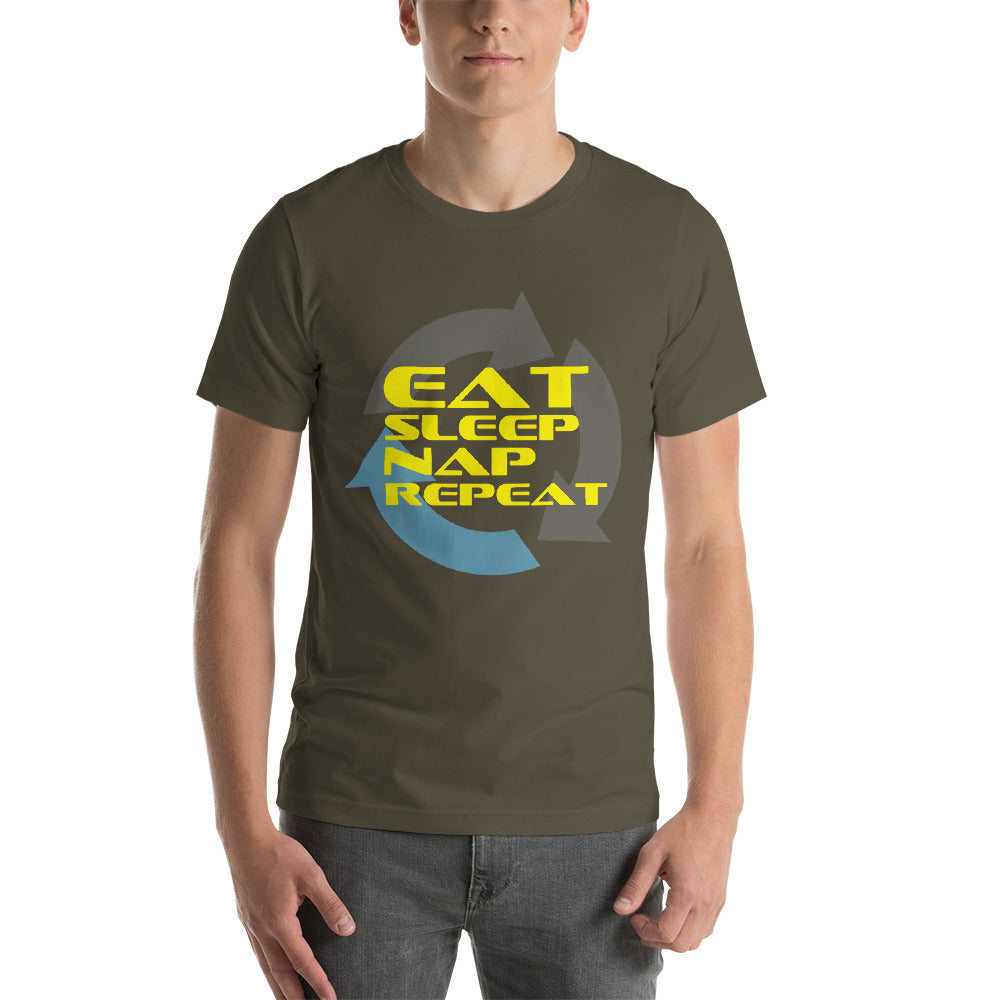 Eat Sleep Nap Repeat Funny Theme Design Cool Colors Cool Art Creative Fabulous Designs