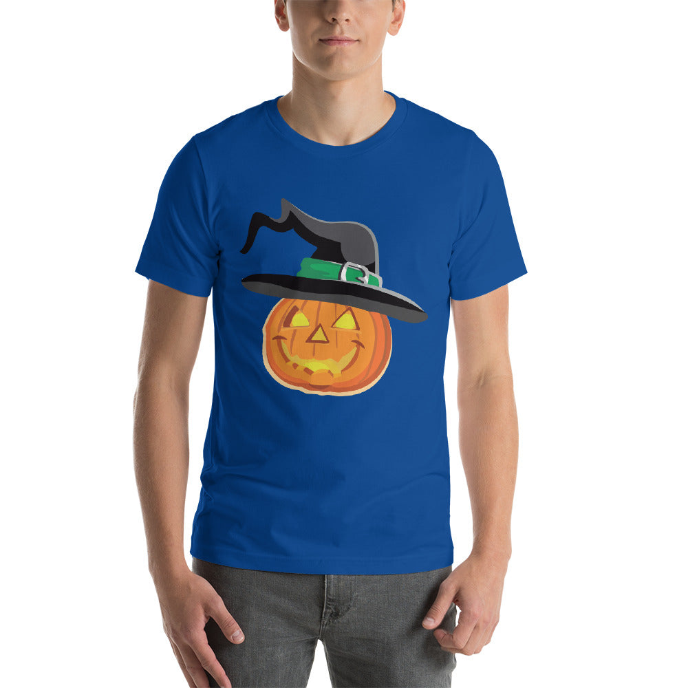 Funny Looking Pumpkin Design Wearing Witch Hat Nice Cool Creative Fabulous Designs