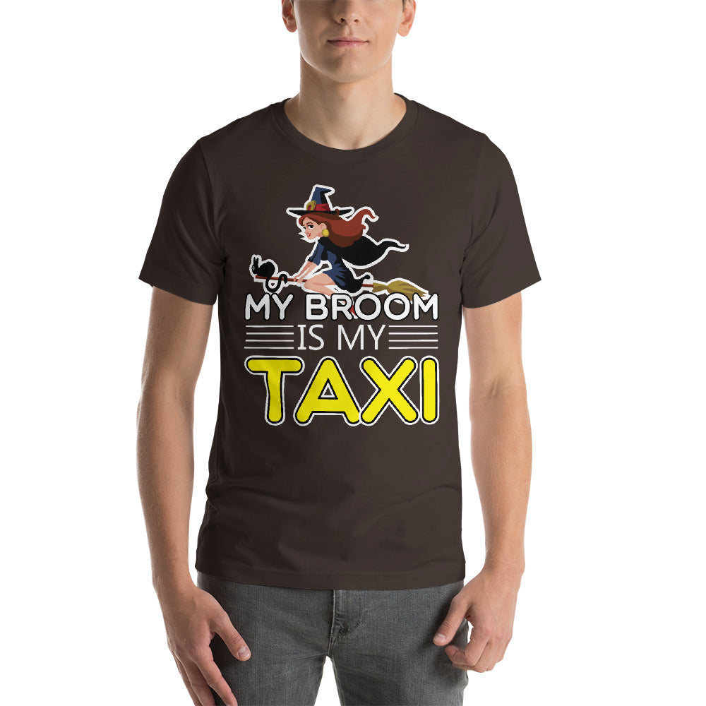 My Broom Is My Taxi Flying Witch Cute Design Cat On Broom Cool Art Creative Fabulous Designs