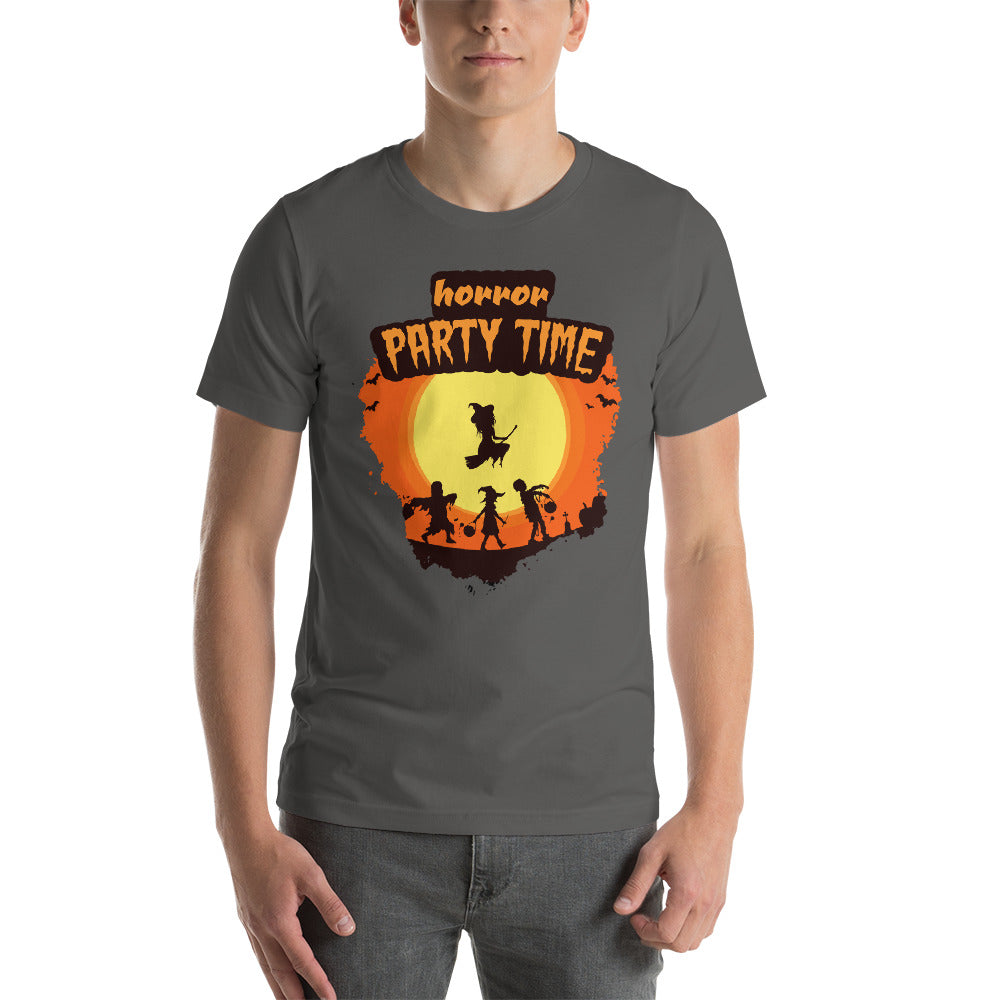 Horror Party Time Full Moon Witch Flying With Zombies Cool Creative Fabulous Designs