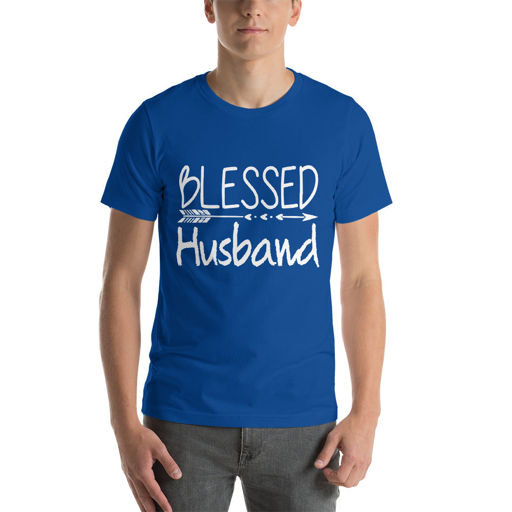 Blessed Husband Happy Me Family Love Typography Theme Cool Art Creative Fabulous Designs