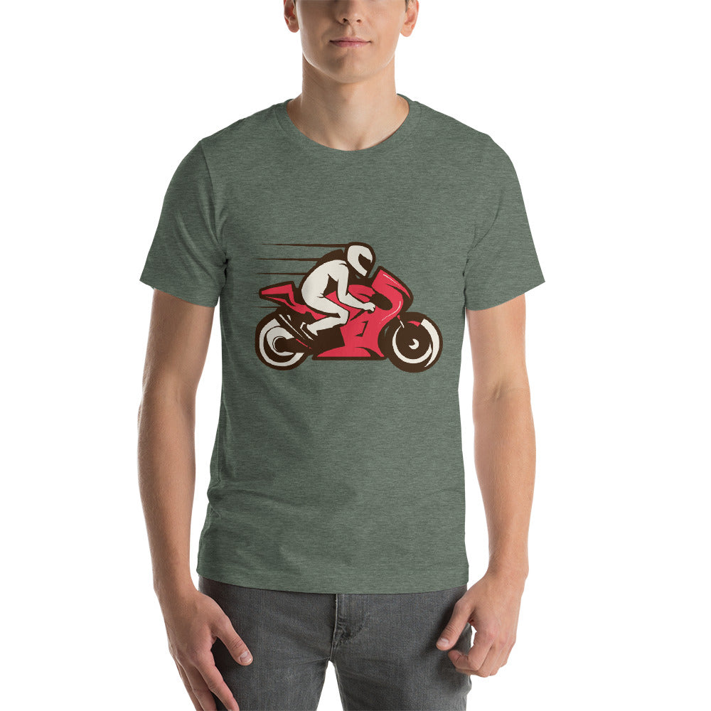 Sports Bike Racing Red Color Awesome Theme Speed Thrills Cool Art Creative Fabulous Designs