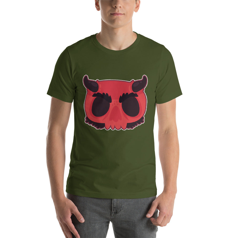 Devil Looking Design In Bright Red Color To Complete The Theme Cool Creative Fabulous Designs