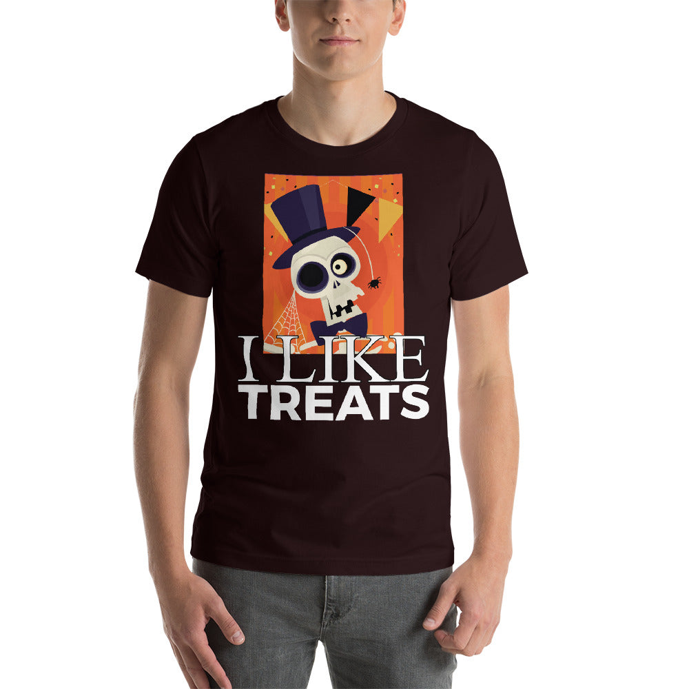 I like Treats Creepy Skull Wearing Magician Hat Bright Colors Cool Art Creative Fabulous Designs