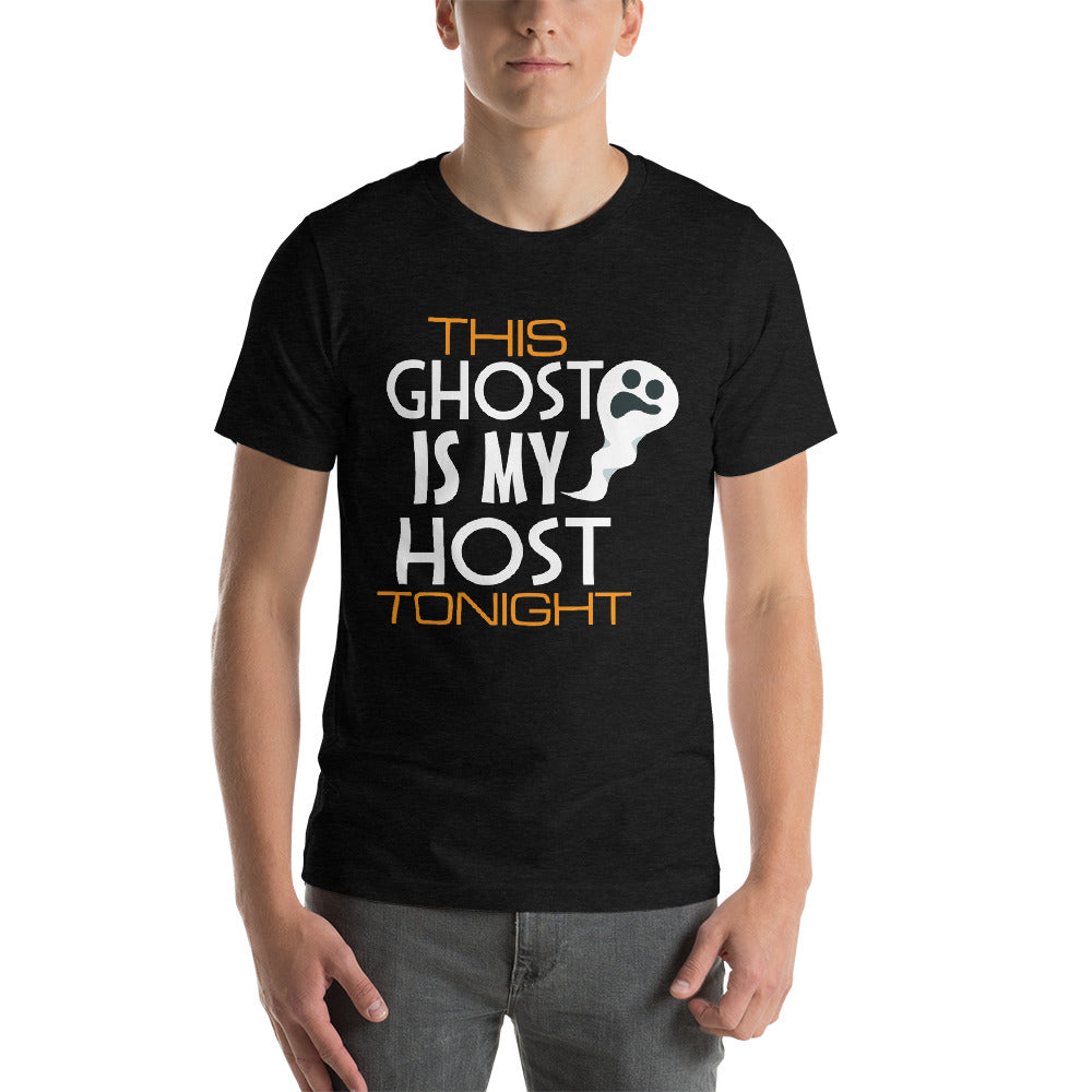 This Ghost Is My Host Tonight Creepy Looking Ghost Face Awesome Typography Cool Art Creative Fabulous Designs