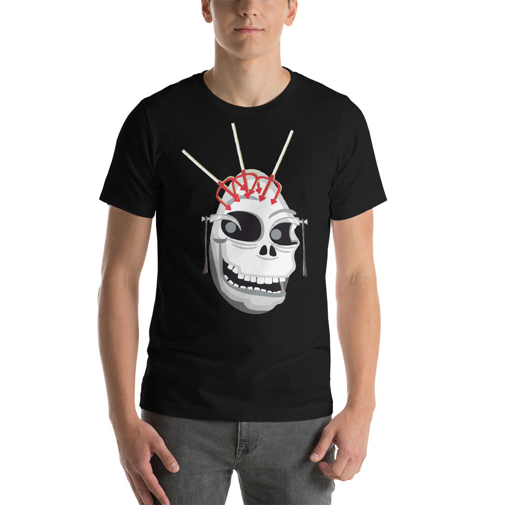 Funkey Looking Skull Design With Reapers Simple And Awesome  Cool Art Creative Fabulous Designs