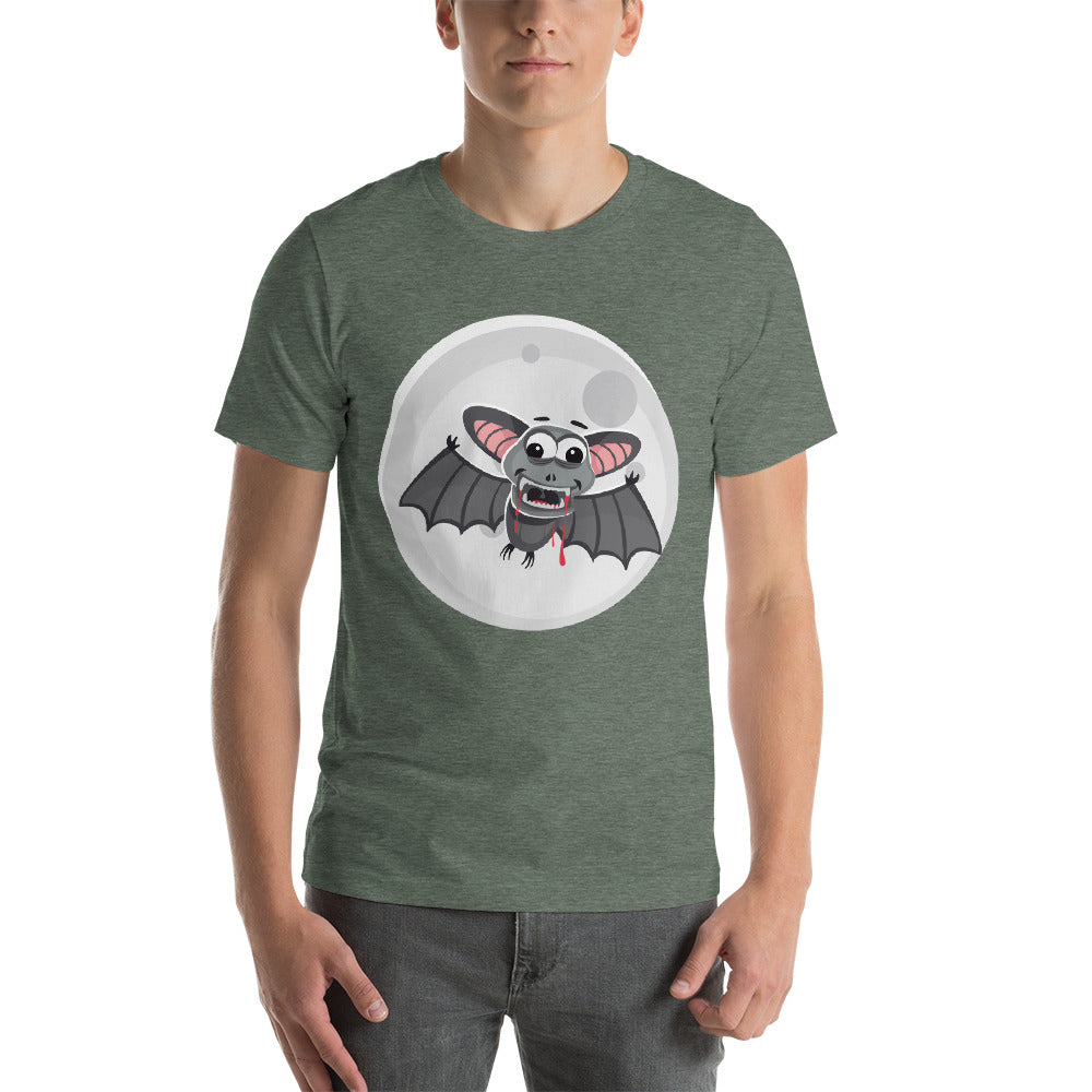 Full Moon With Funny Vampire Looking Bat Design Good Cool Creative Fabulous Designs