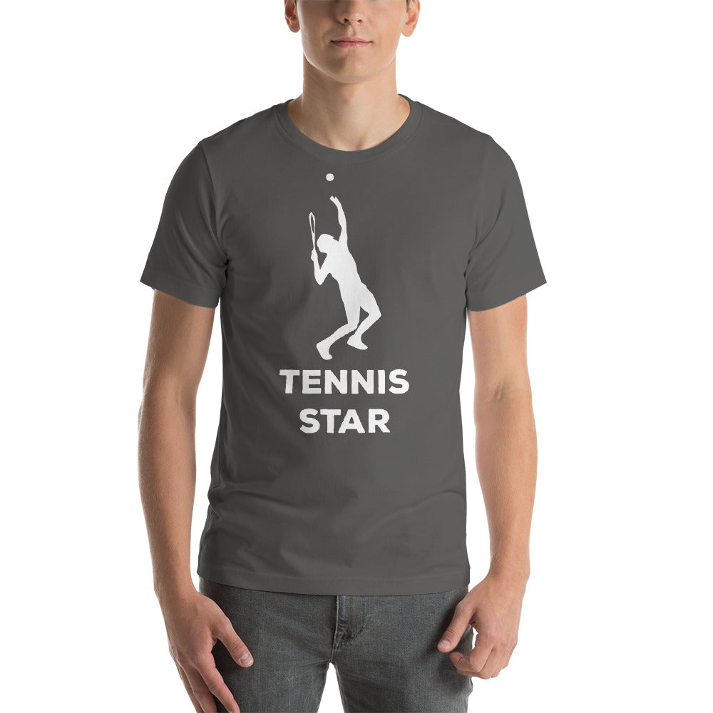 Tennis Star Smash It Play Well Strike Hard Tennis Is Awesome cool creative awesome fabulous design.