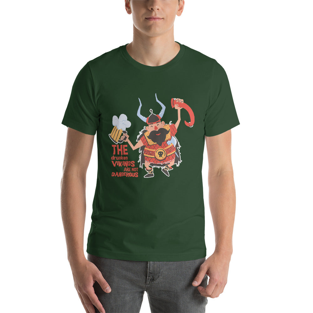 The Drunken Vikings Are Not Dangerous Funny Warrior Design Cool Art Creative Fabulous Designs