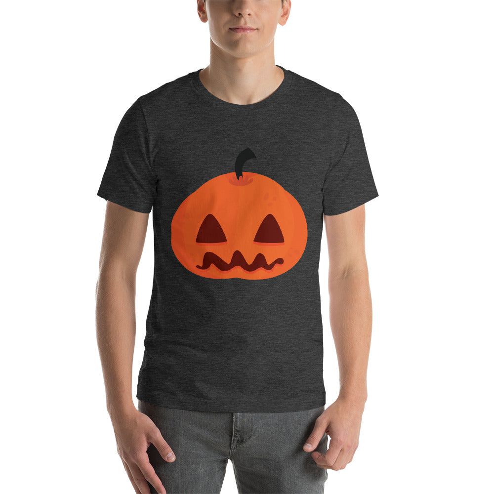 Scary And Confused Looking Pumpkin Design With Bright Color Cool Creative Fabulous Designs