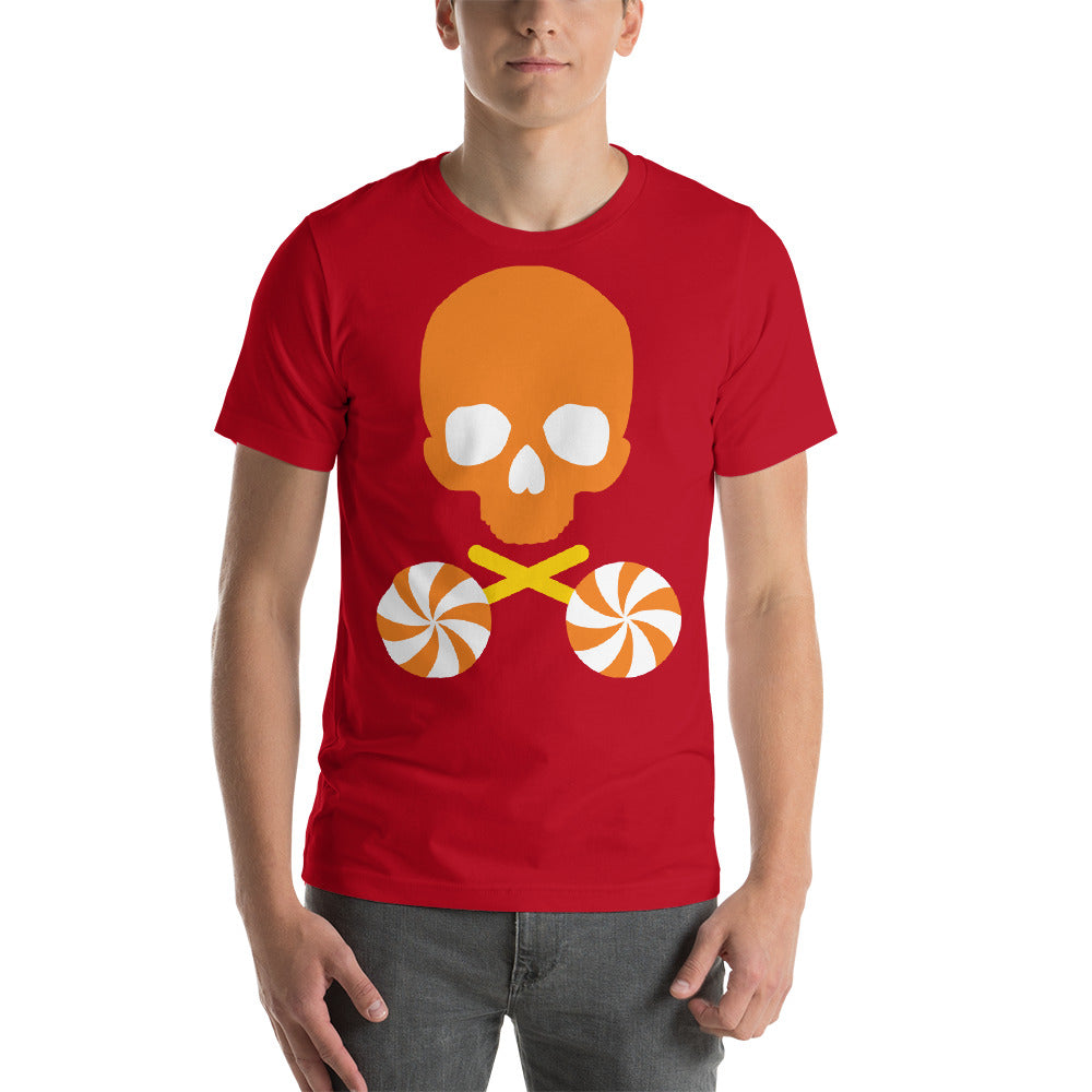 Stunning Skull Design With Two Lollipops Nice Colors Cool Creative Fabulous Designs