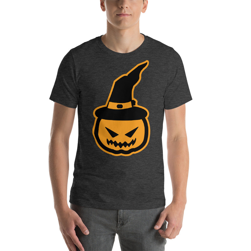 Scary And Angry Looking Pumpkin Image Wearing A Witch Hat Cool Creative Fabulous Designs