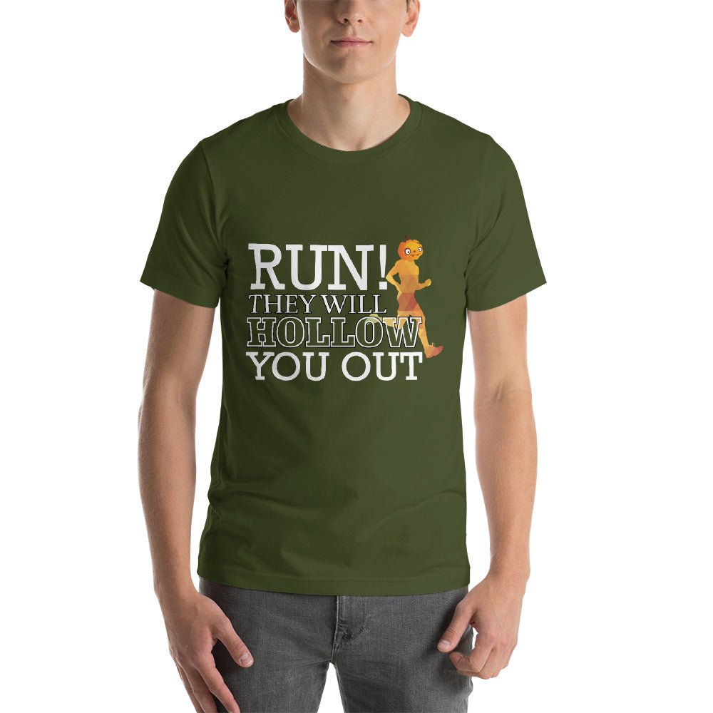 Run! They Will Hollow You Out Running Pumpkin Nice Typography Cool Art Creative Fabulous Designs