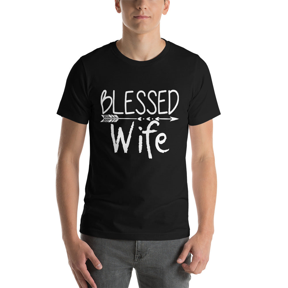 Blessed Wife Happy Me Family Love Typography Theme Cool Art Creative Fabulous Designs