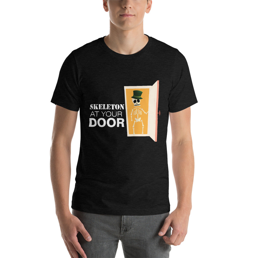 Skeleton At Your Door Creepy Skeleton Wearing Magician Hat Cool Art Creative Fabulous Designs