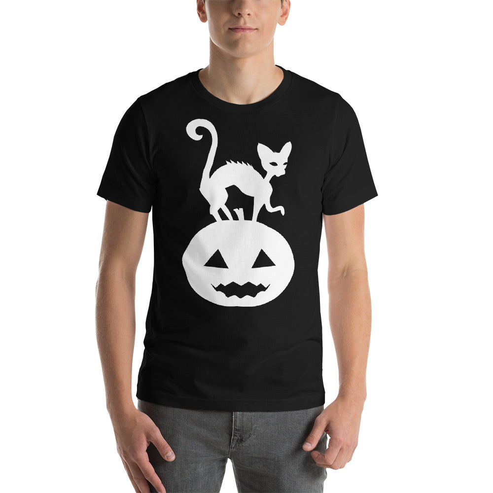 Interesting Image Design Of A Scary Looking Cat On Pumpkin Cool Creative Fabulous Designs