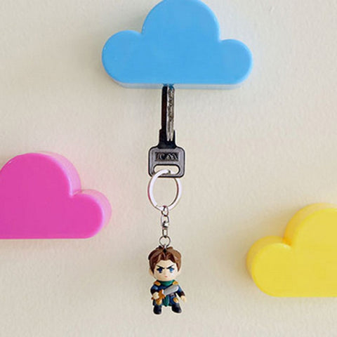 Magnetic Hooks Creative Novelty Home Storage Holder White Cloud Shape Magnetic Magnets Key Holder