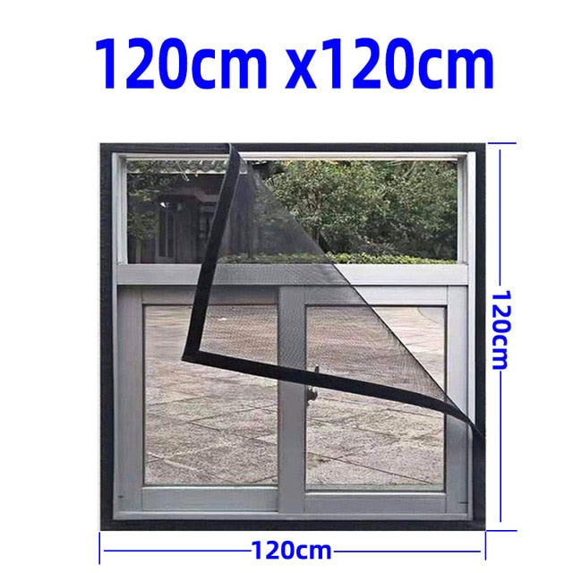Inset Window Screen Mesh, Air Tulle Adjustable Summer Invisible Anti-Mosquito net Fiberglass Removable Washable Customize Screen