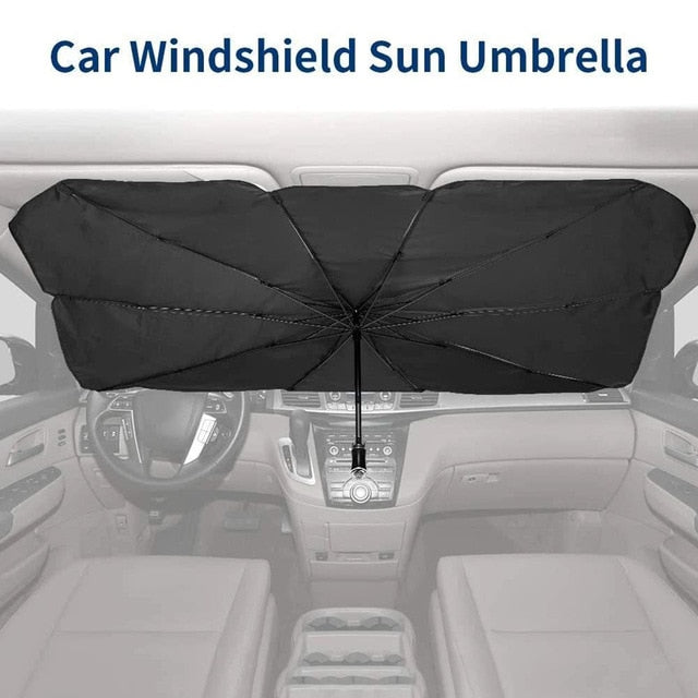 125cm 145cm Foldable Car Windshield Sun Shade Umbrella Car UV Cover Sunshade Heat Insulation Front Window Interior Protection