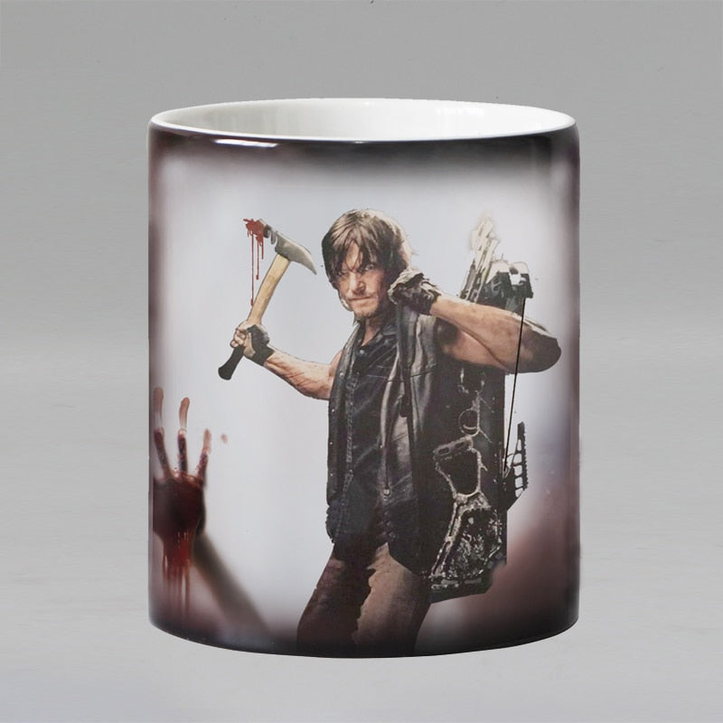 The walking dead zombie mug magic