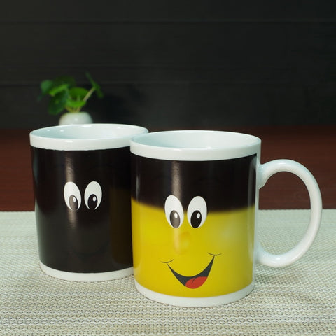New Arrive Smile Temperature magic mug custom
