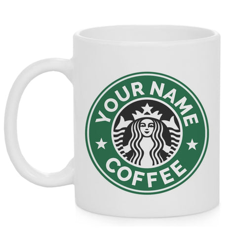 Custom Name white coffee mugs