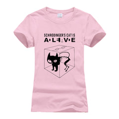 women funny  schrodinger's cat t shirt