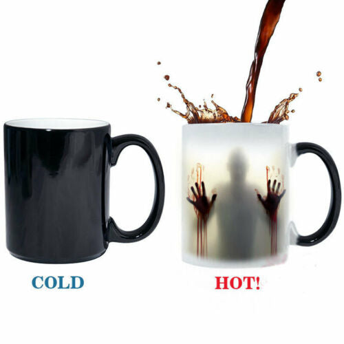 Walking Dead Tea Hot Personalised magic zombie mug