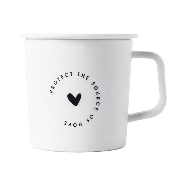250ml black and white coffee mugs