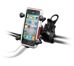 RAM EZ-Strap™ Rail Mount with Universal X-Grip™ Cell Phone Holder