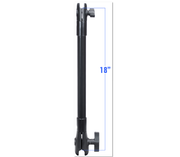 "RAM 18"" Long Extension Pole with 1"" and 1.5"" Single Open Sockets"