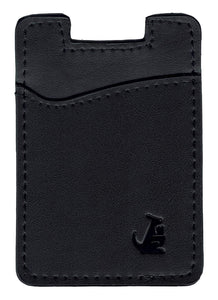 Black Leather - Phone Wallet