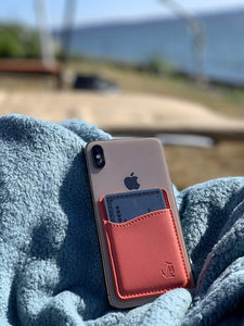 Coral Leather - Phone Wallet