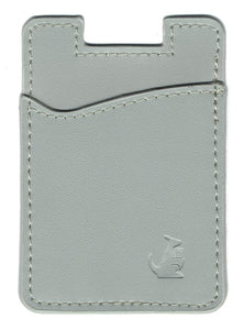 Gray Leather - Phone Wallet