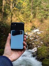 Load image into Gallery viewer, Pastel Blue Leather - Phone Wallet