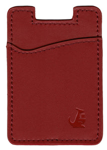 Maroon Red Leather - Phone Wallet