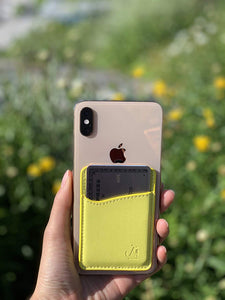 Yellow Leather - Phone Wallet
