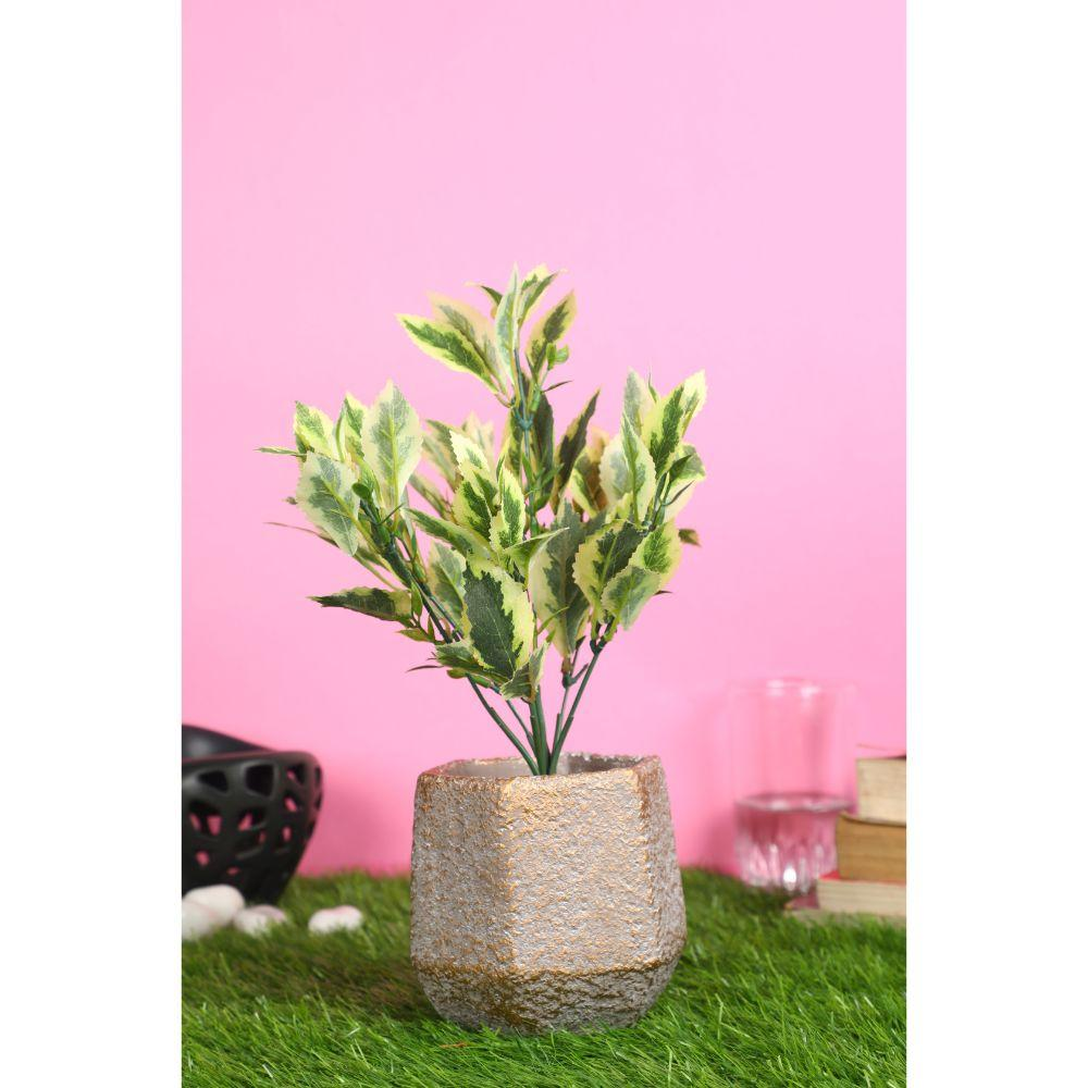 Pollination White Green Artificial Bunch without Pot  for Home Decor (Pack of 1) - Artificial Flowers & Plants - PolliNation