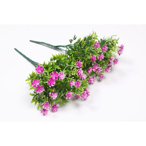 Pollination Stunning Pink Artificial Flower Bunch without Pot  Home, Office, Room, Restaurant, Hotel, Balcony, Kitchen, Garden Decor, Indoor(Pack of 2) - Artificial Flowers & Plants - PolliNation