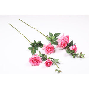 Pollination Exquisite Peach Rose Artificial Flower for Home,Office, Restaurant, Hotel, Party, Balcony, Garden Decor, Indoor (Pack of 2, 2 Inch ) - Artificial Flowers & Plants - PolliNation