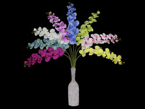 Orchids Artificial Flower  (50 inch, Pack of 2)