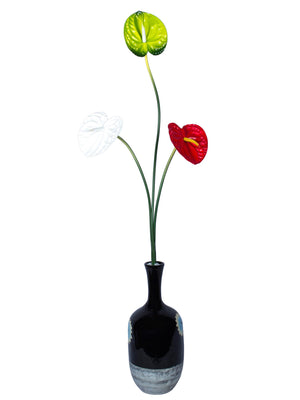 Peace Anthurium Lily Flower heads for Decoration  (30 inch, Pack of 3) - Artificial Flowers & Plants - PolliNation